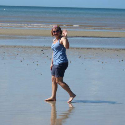 Zita Nováková u Cape Trribulation na severu Austrálie
