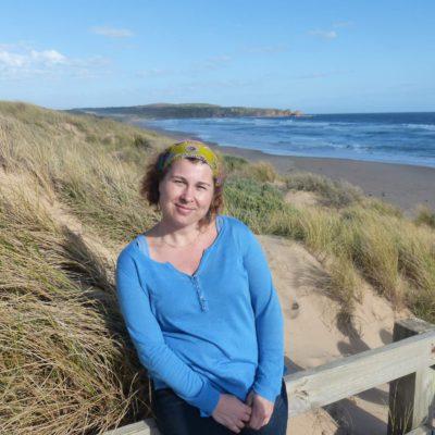 Zita Nováková u Phillip Island v Austrálii